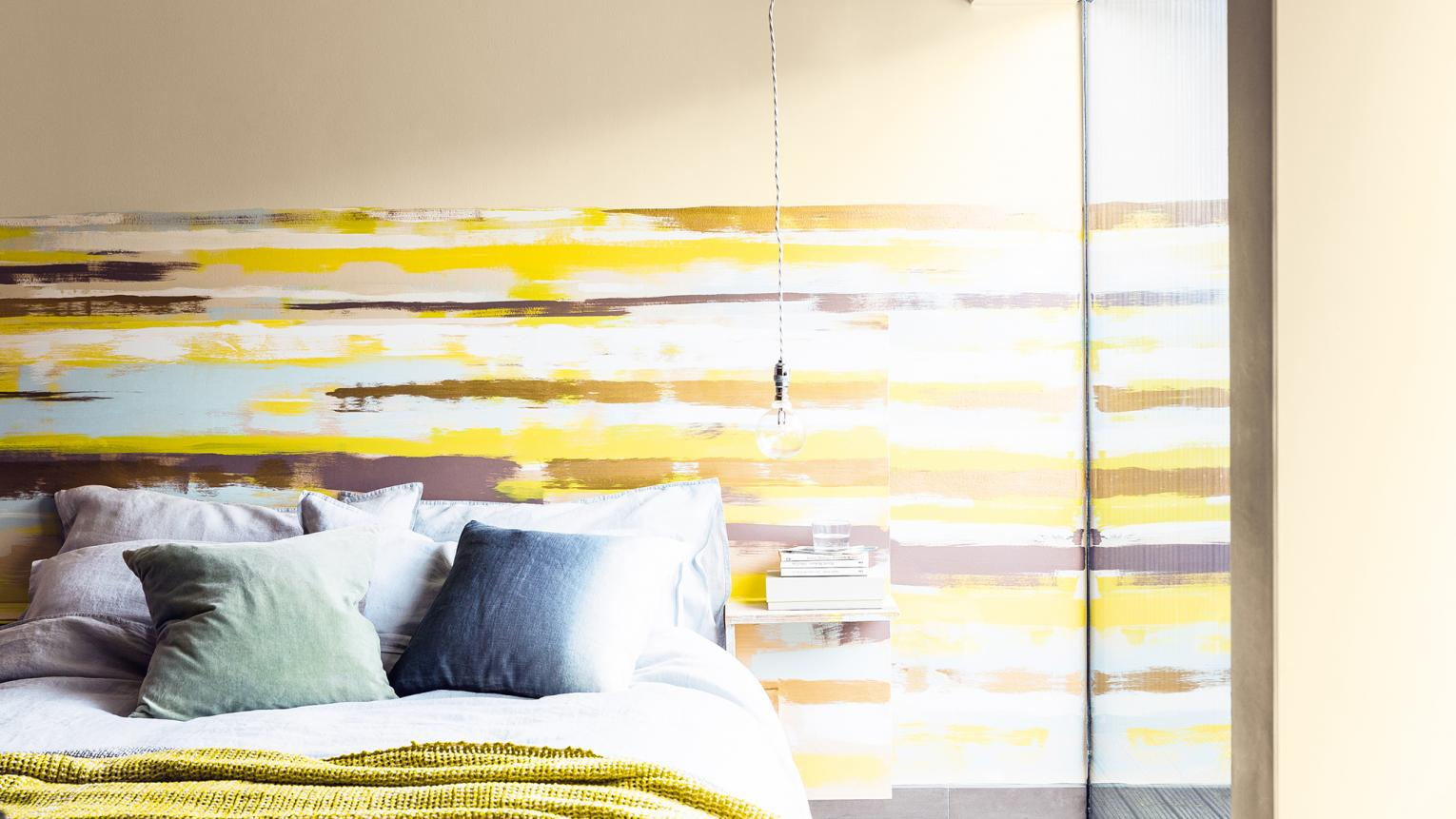 Create a striped feature wall