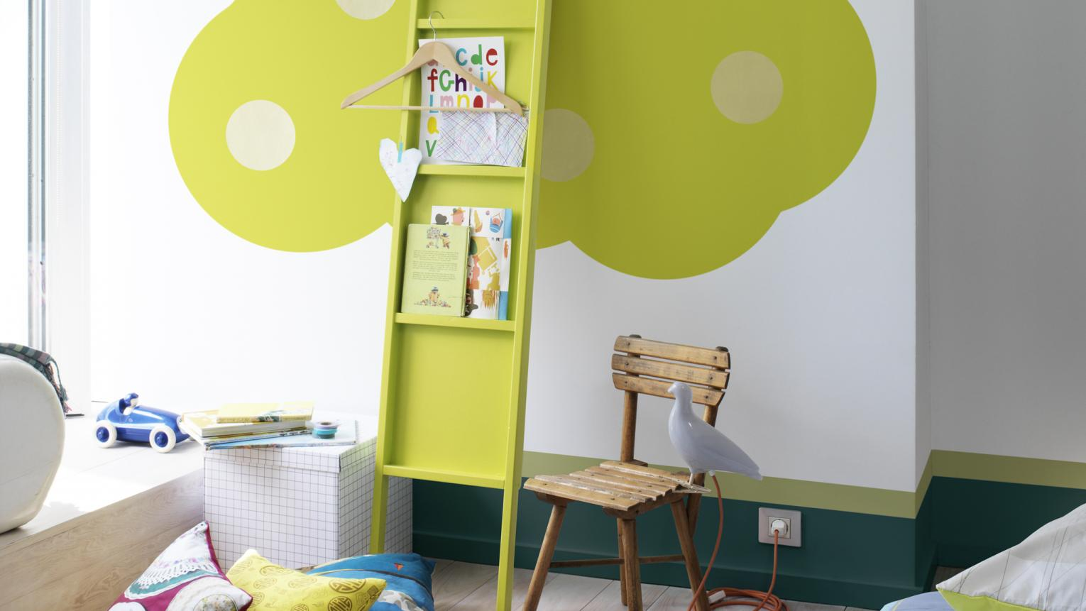 Be playful with your use of colour and shapes in a kids' room.