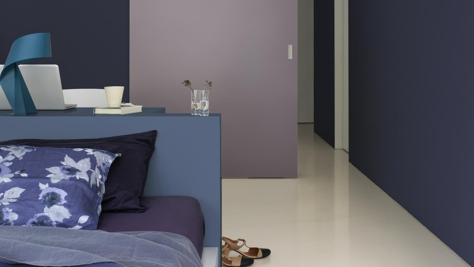 Deep purples and blues create a sense of passion and energy.