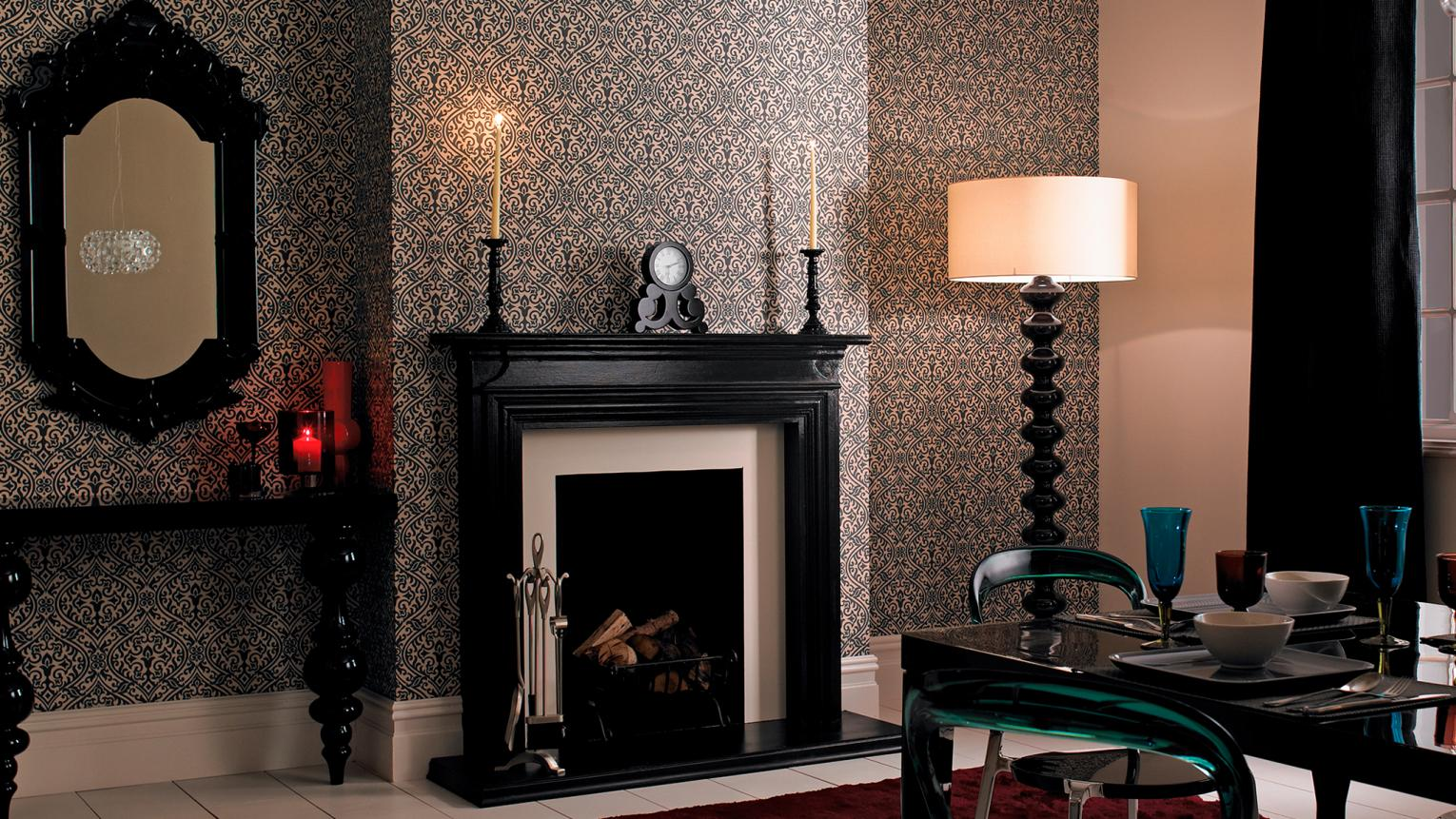 Just a touch of black colour can add instant drama and sophistication to a room.