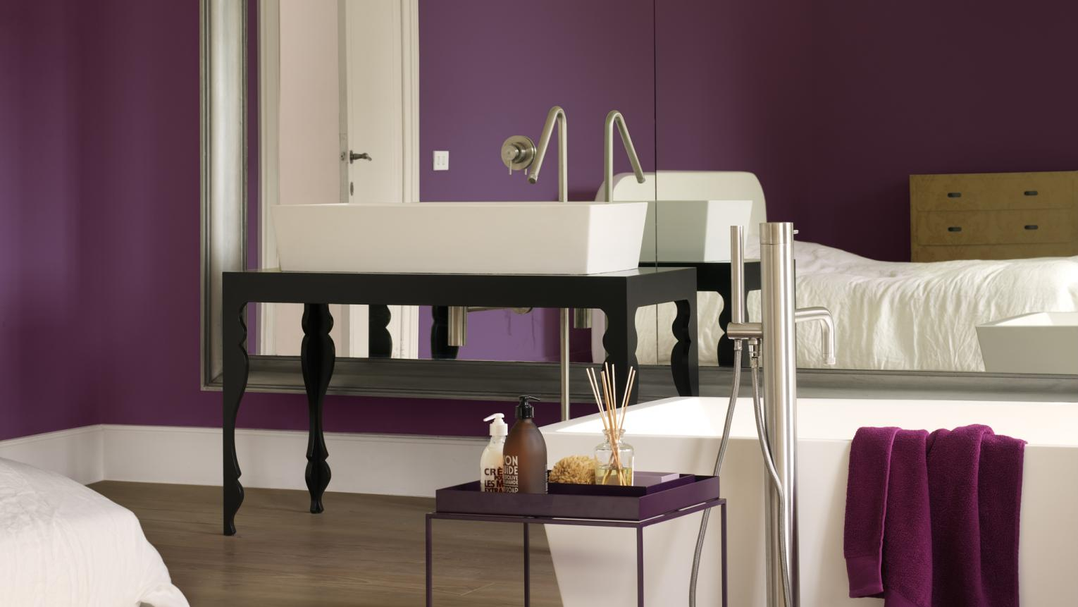Let luxury reign in the bathroom with a royal shade of purple.